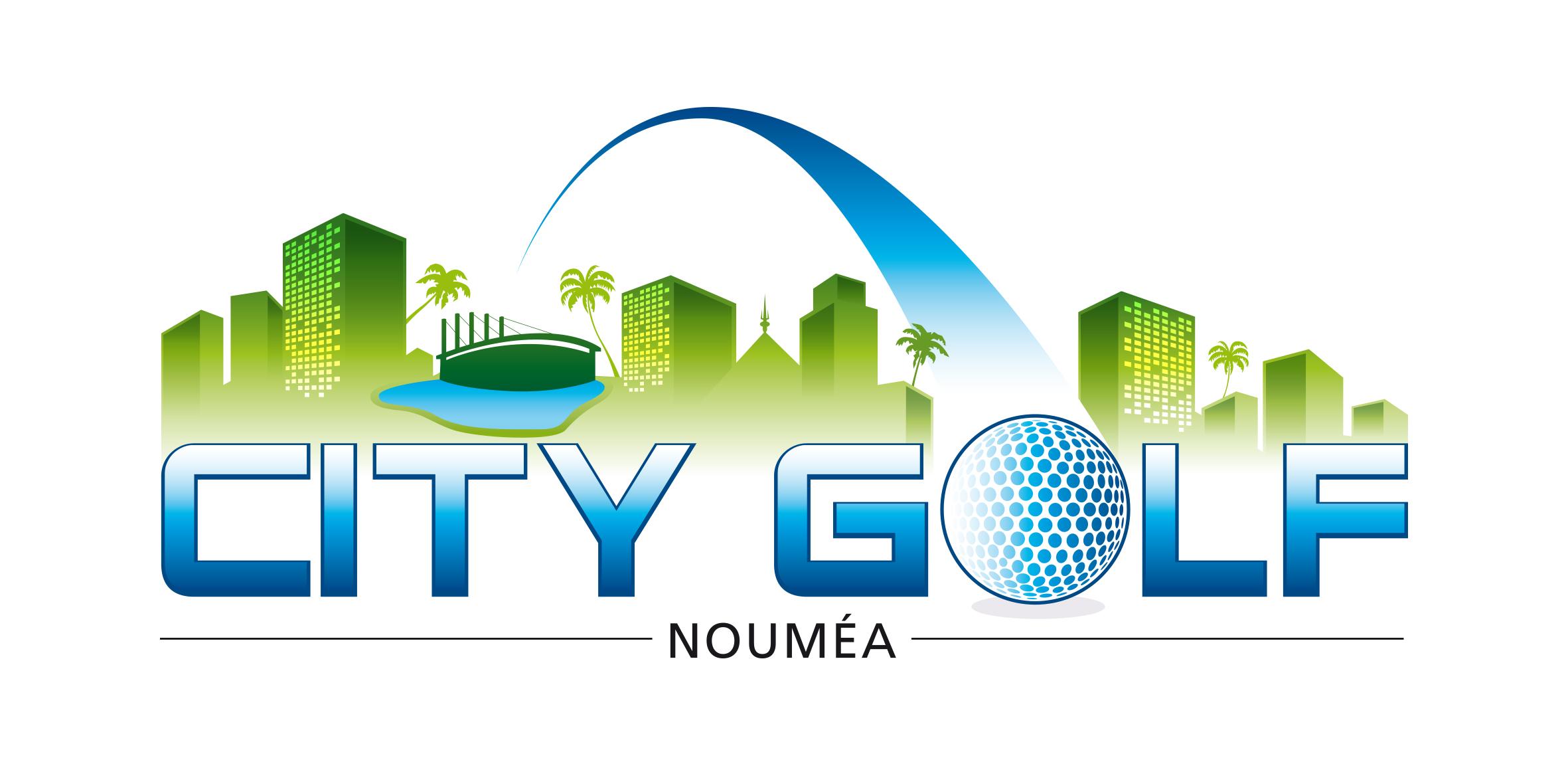 Logo City Golf Grand format bleu et vert